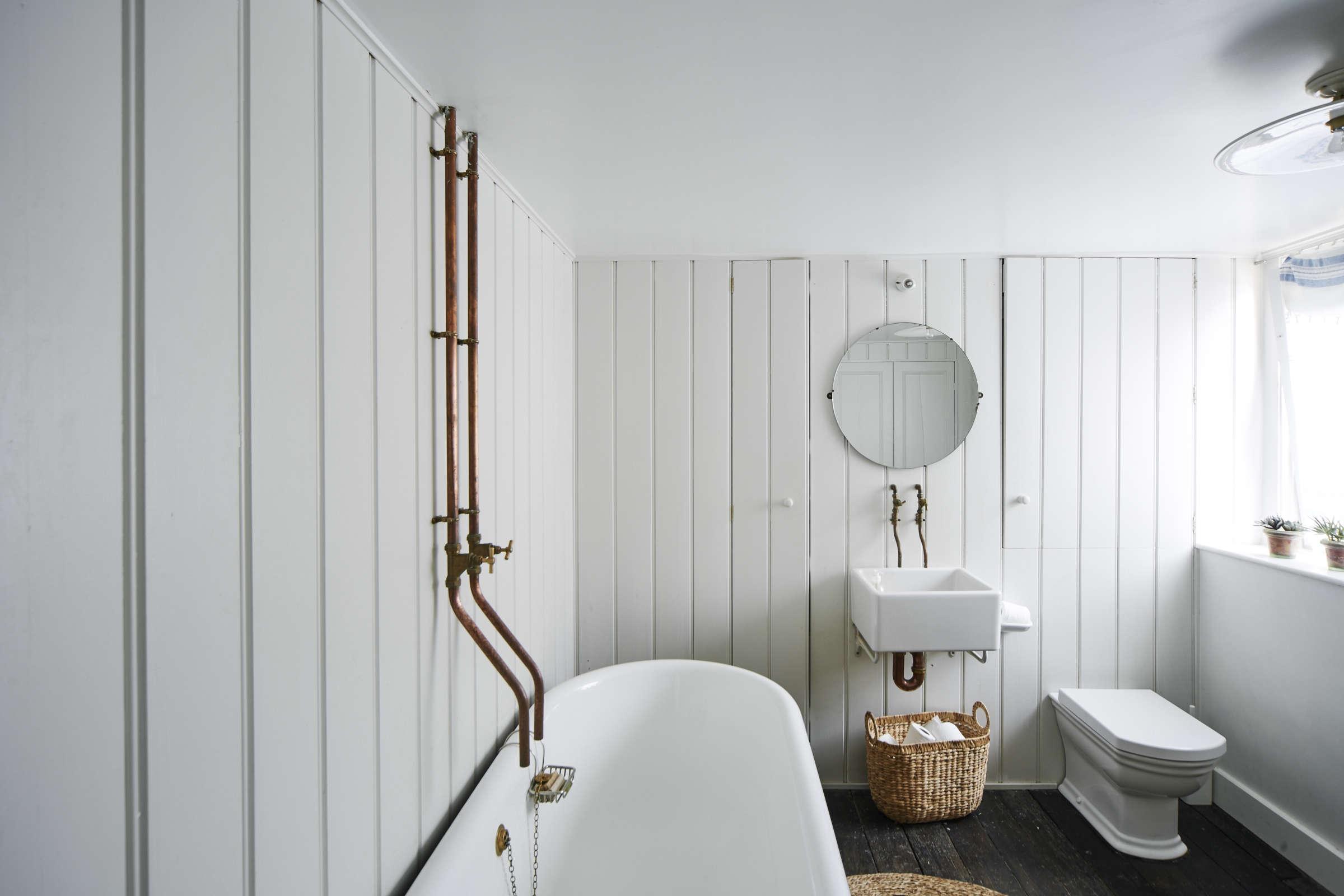 a vintage bath in england with a diy