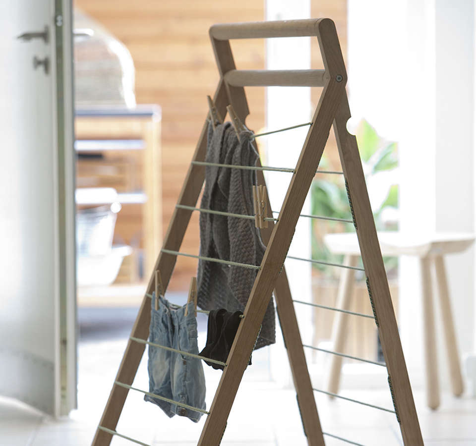 10 easy pieces wooden laundry racks