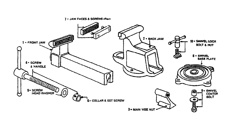 Bench Vise Parts Diagram, Bench, Free Engine Image For