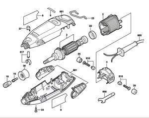 Dremel 3000 (F013300000) Parts List | Dremel 3000