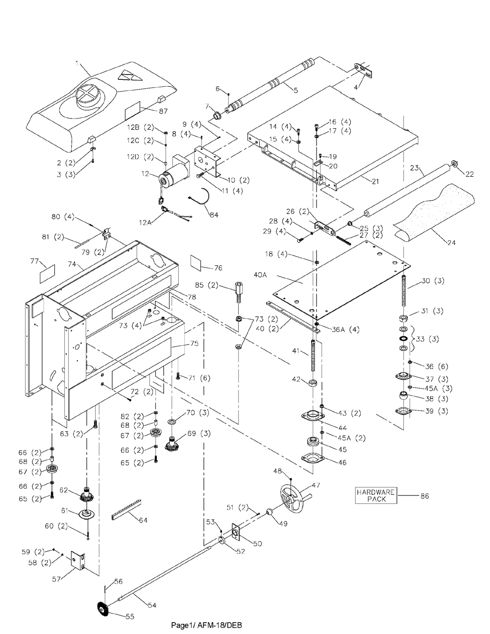 Deltum Drum Sander Wiring Diagram