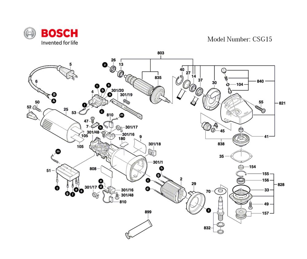 Bosch CSG15-(0601773739) Electric Grinder Parts