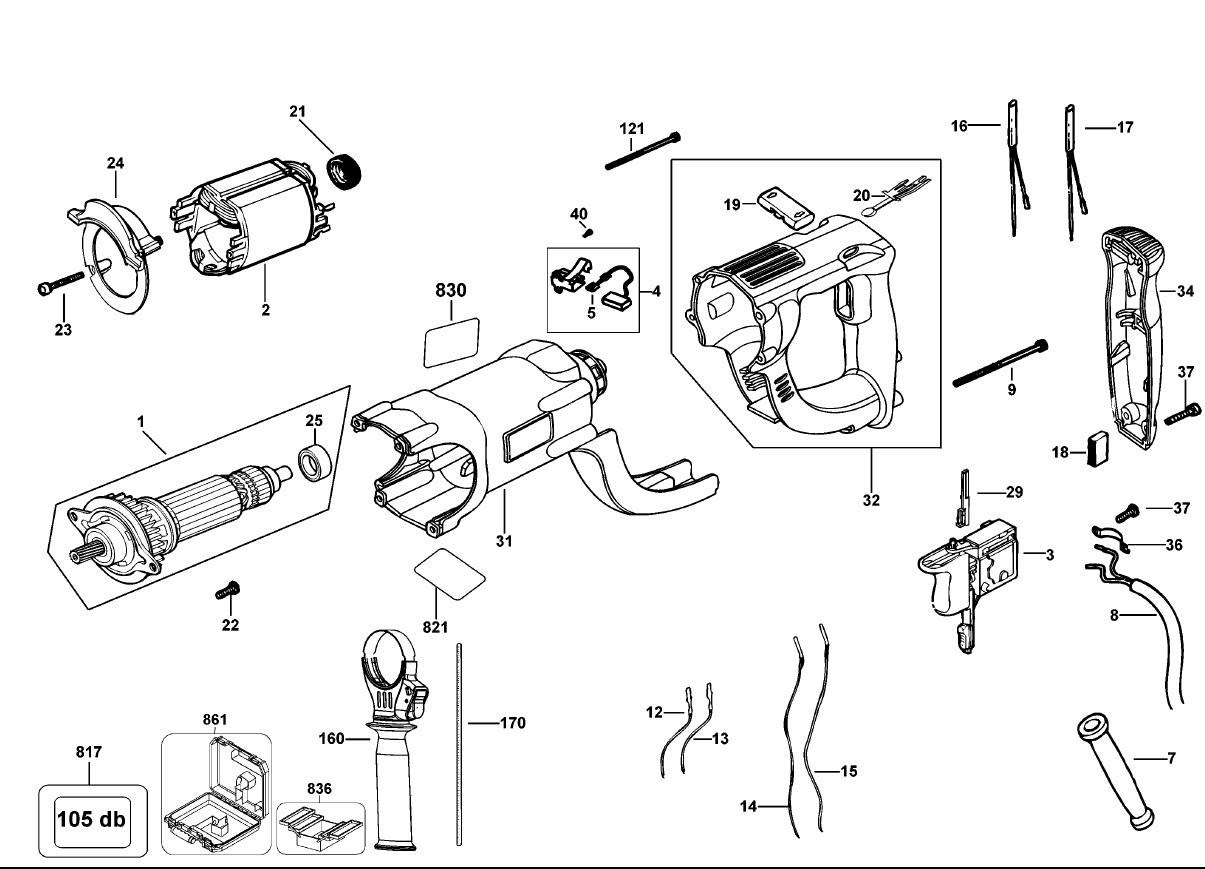 Dewalt D K Type 10 Parts List