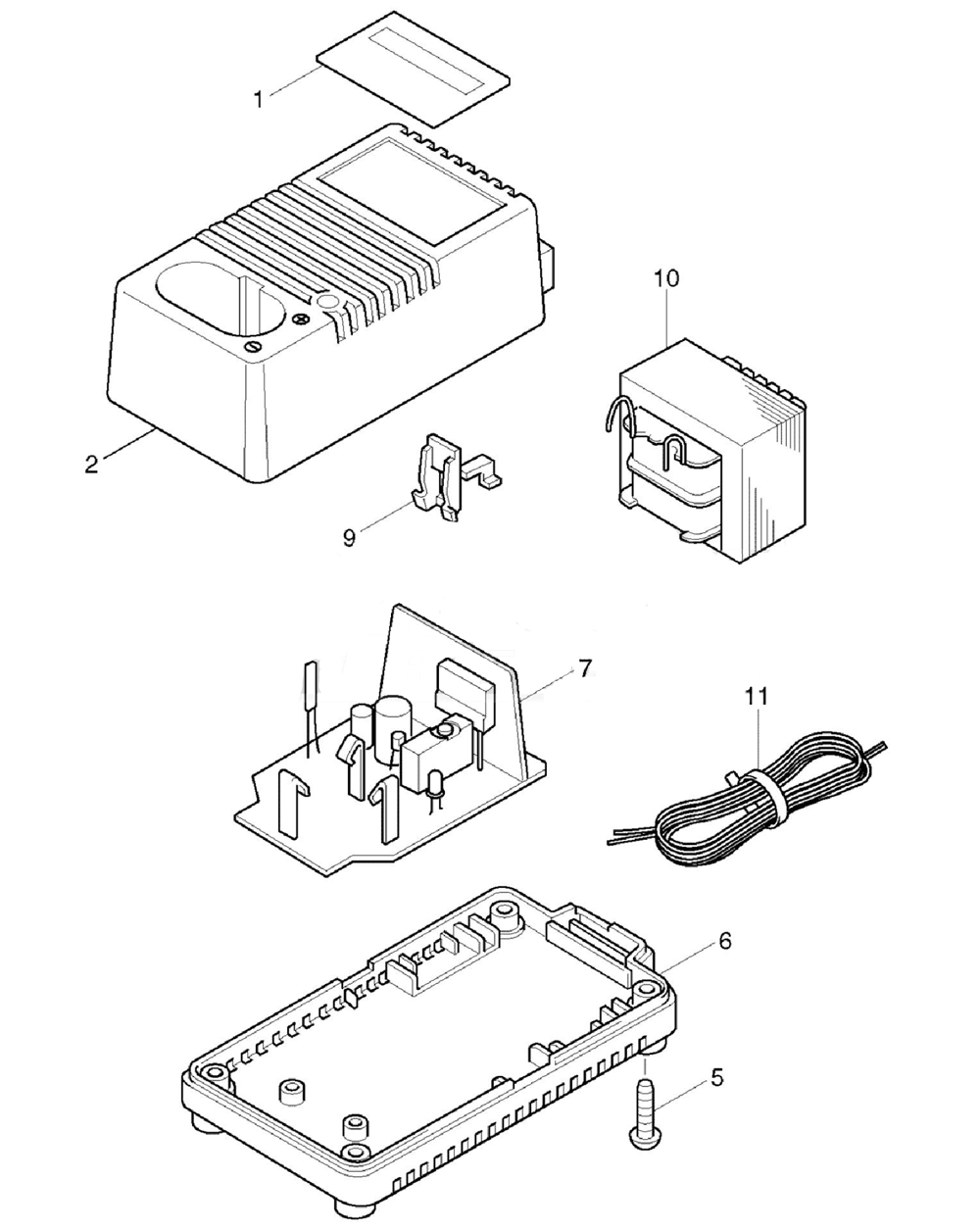hight resolution of makita dc1290a parts schematic