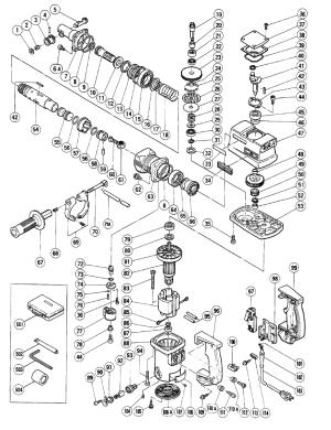 Hitachi DH38YE Parts List | Hitachi DH38YE Repair Parts