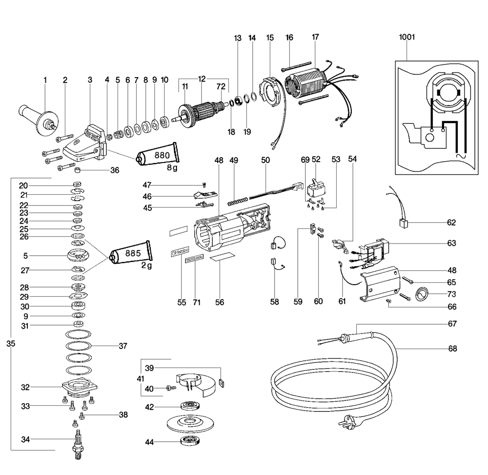 Metabo EWE11150S-Signal-Quick-(611050420) Parts List