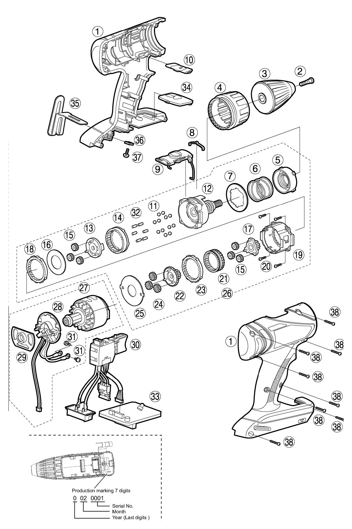 Panasonic Ey Parts List