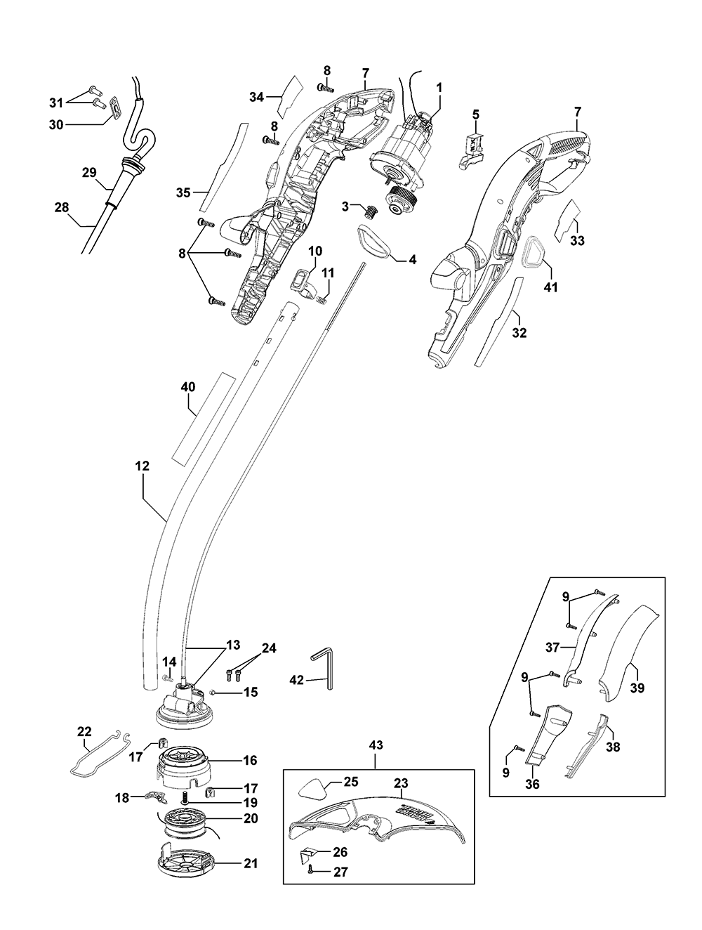 Black And Decker Gh1000 Parts List And Diagram Type 1
