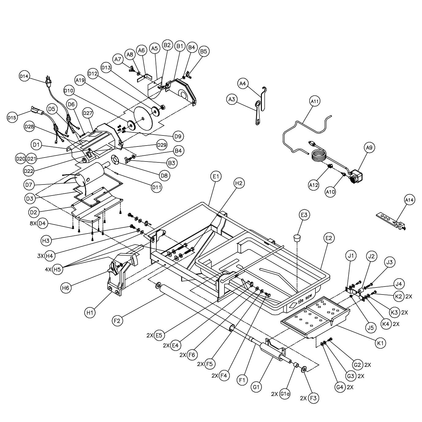 Mk Diamond Mk 660 Parts List