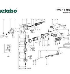 metabo pwe11 100 02050420 parts list metabo pwe11 100 02050420 bosch wiring diagram metabo grinder wiring diagram [ 1000 x 879 Pixel ]