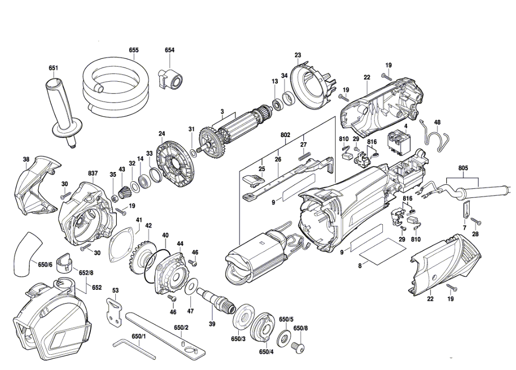 replacement tool parts rotozip rfs1000 f012rf0100 saws diagram