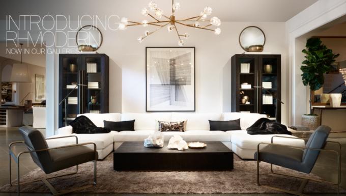 Restoration Hardware Living Room Modern