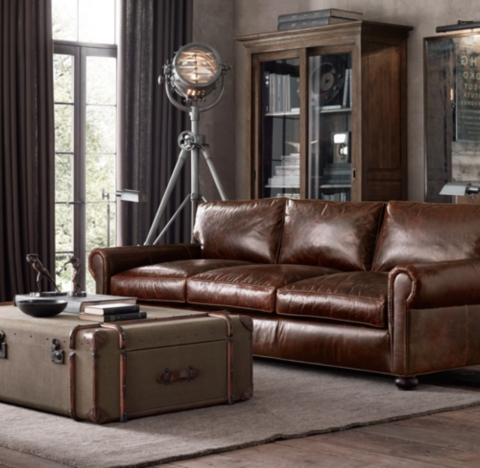 brown chesterfield sofa sofas knoxville tn lancaster leather