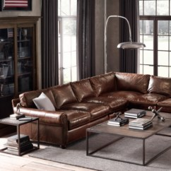 Leather Sectional Sofa Restoration Hardware Best Modern Brands Original Lancaster L Alternate View 1 2 3