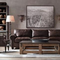 72 Lancaster Leather Sofa Convertible Doc Bunk Bed Original Alternate View 5