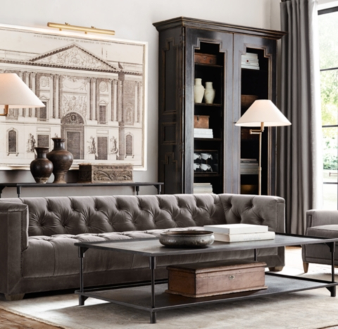 restoration hardware living room full sets savoy upholstered sofa