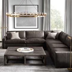 Rh Lancaster Leather Sofa Velvet Pink Restoration Hardware Maxwell - Thesofa