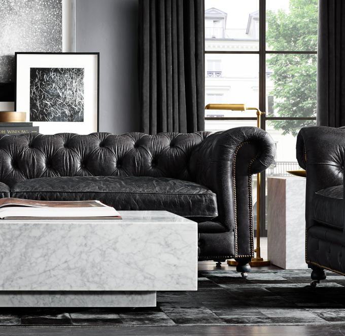 kensington leather sofa restoration hardware cama san ramon costa rica alternate view 5