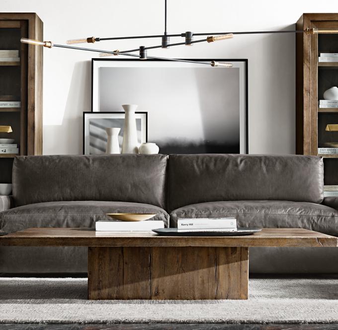 leather sofa craigslist best comfortable sectional restoration hardware maxwell rh - thesofa