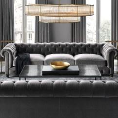 Kensington Leather Sofa Restoration Hardware Stone Design Upholstered Alternate View 5