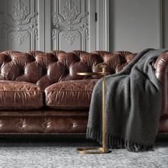 Kensington Leather Sofa Restoration Hardware Canape Divan Color Preview Unavailable Alternate View 1 2 3