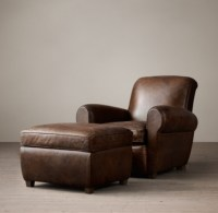 Restoration Hardware Library Leather Club Chairs ...