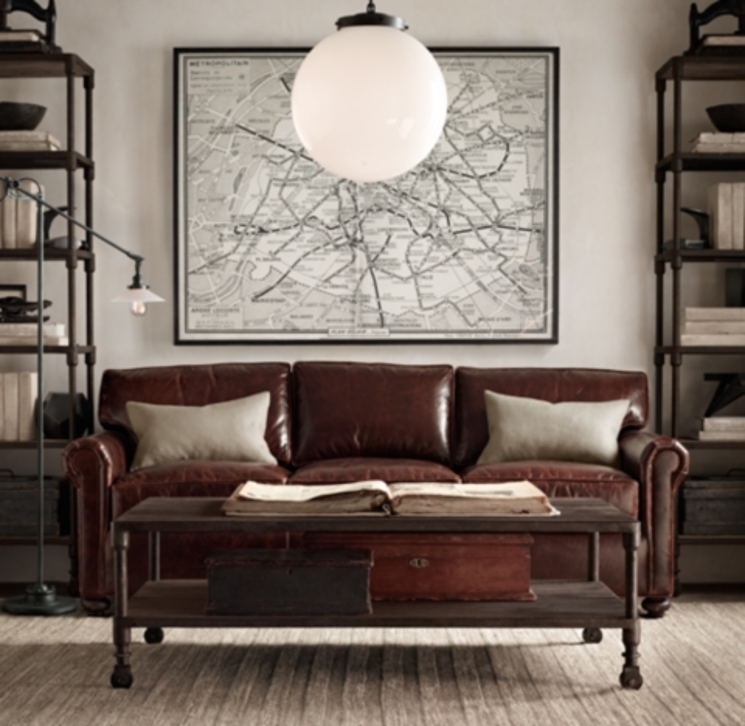 72 lancaster leather sofa harris tweed throws petite original alternate view 5