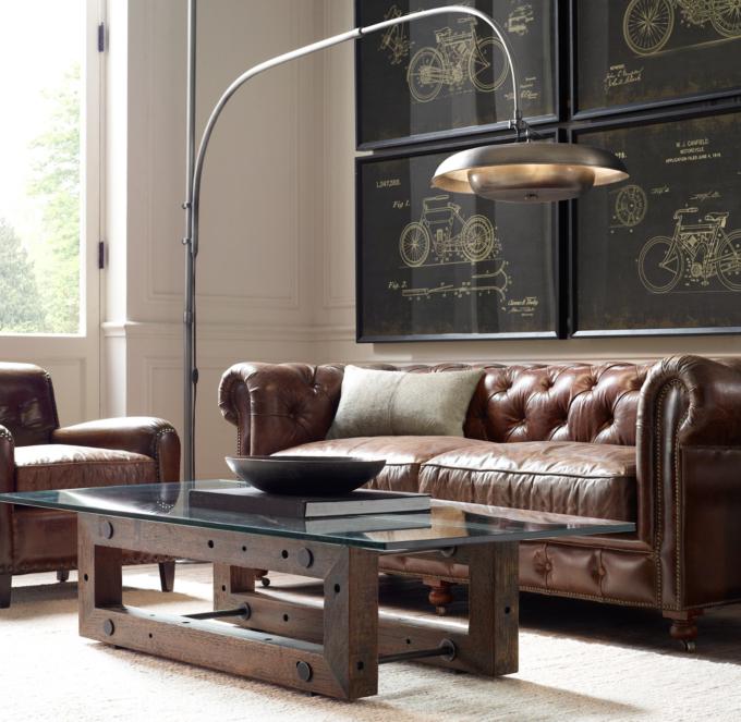 kensington leather sofa restoration hardware scs storm petite alternate view 5