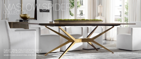 dining table with metal chairs black distressed maslow spider collection | rh
