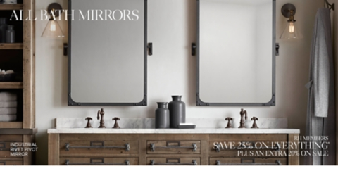 All Bath Mirrors  RH