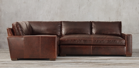 leather sectional sofa restoration hardware mid century convertible collections rh maxwell