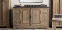 French Casement Bath Collection - Weathered Oak | RH