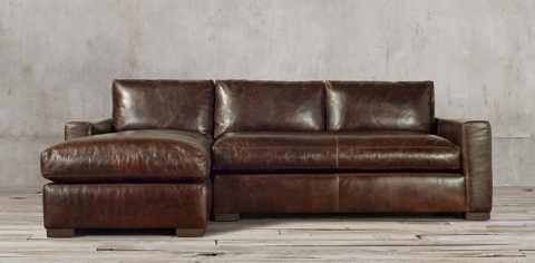 leather sectional sofa restoration hardware t slipcovers maxwell sectionals rh