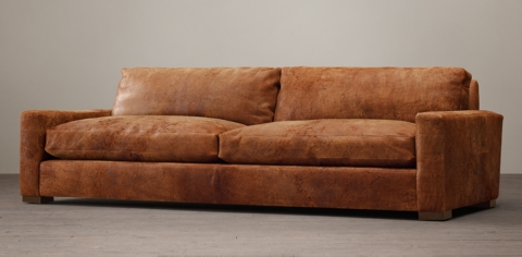 track arm sofa top grain leather meaning maxwell restoration hardware upholstered ...