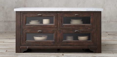 kitchen console island wheels collections rh collection