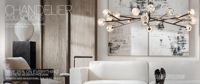 chandelier collections rh modern