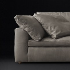 Cloud Track Arm Leather Two Seat Cushion Sofa Lifestyle Solutions Bed Convertible Rh Modern Collection