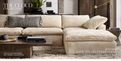 leather sectional sofa restoration hardware texas cloud collection rh why sit when you can float the