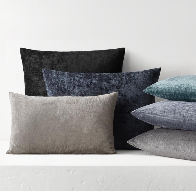 italian lustrous velvet pillow cover