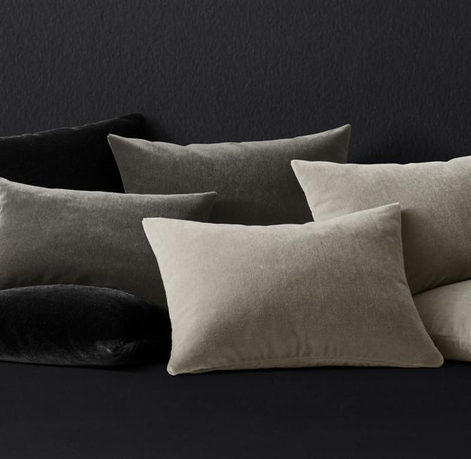 mohair velvet pillow cover