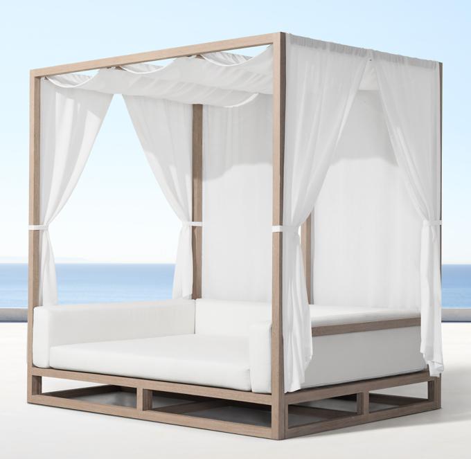 aviara teak canopy daybed