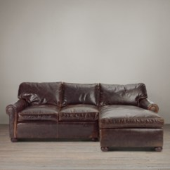 Rh Lancaster Leather Sofa Pamela Two Tone Reclining And Loveseat Set Original Right-arm Chaise Sectional