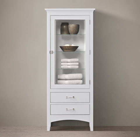 Tall White Cabinet With Doors