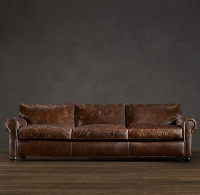 Classic Lancaster Leather Sleeper Sofa