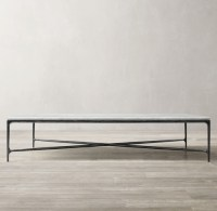 Thaddeus Forged Iron & Marble Rectangular Coffee Table