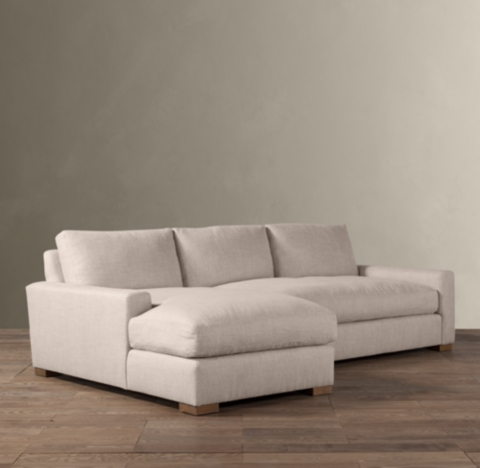 leather sectional sofa restoration hardware sofas costa blanca maxwell upholstered left arm chaise alternate view 1