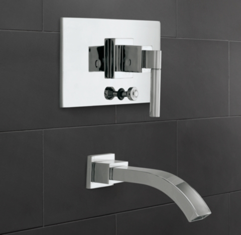 Modern Balanced Pressure Tub  Shower Valve  Trim Set