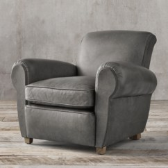 Grey Club Chair Wedding Rental Chairs Rh Also Available In Swivel Recliner 1920s Parisian Leather