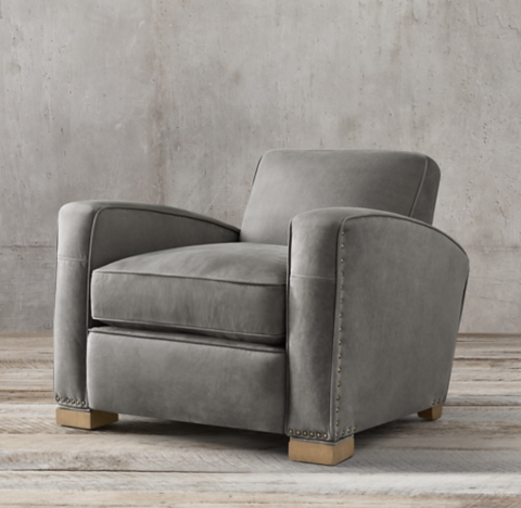 grey club chair victorian accent chairs rh 2 depths also available in swivel