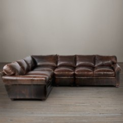 Leather Sectional Sofa Restoration Hardware Twin Sleeper Canada Original Lancaster L Alternate View 1